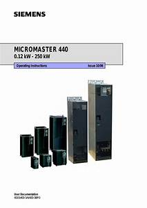 User Manual For Siemens Micromaster 440 A Servicing Best