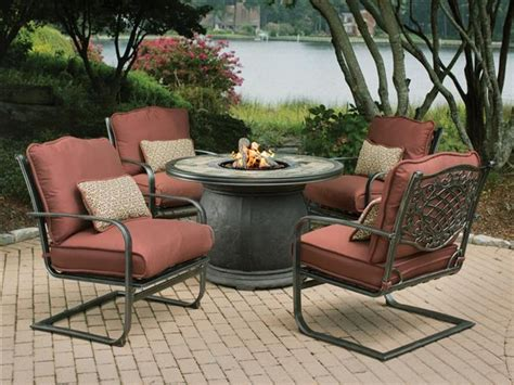 patio furniture fire pit table set outdoor table with firepit covered patio fire pit gas