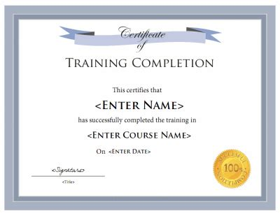 training certificate template  printable receipt template
