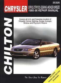 automotive service manuals 1995 chrysler sebring parental controls 1995 1998 chrysler dodge cirrus stratus sebring avenger breeze chilton manual