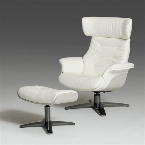 grey chair and ottoman modern white and grey genuine leather reclining chair and