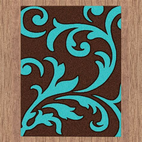 brown and turquoise rug majestic carving brown and turquoise contemporary rug