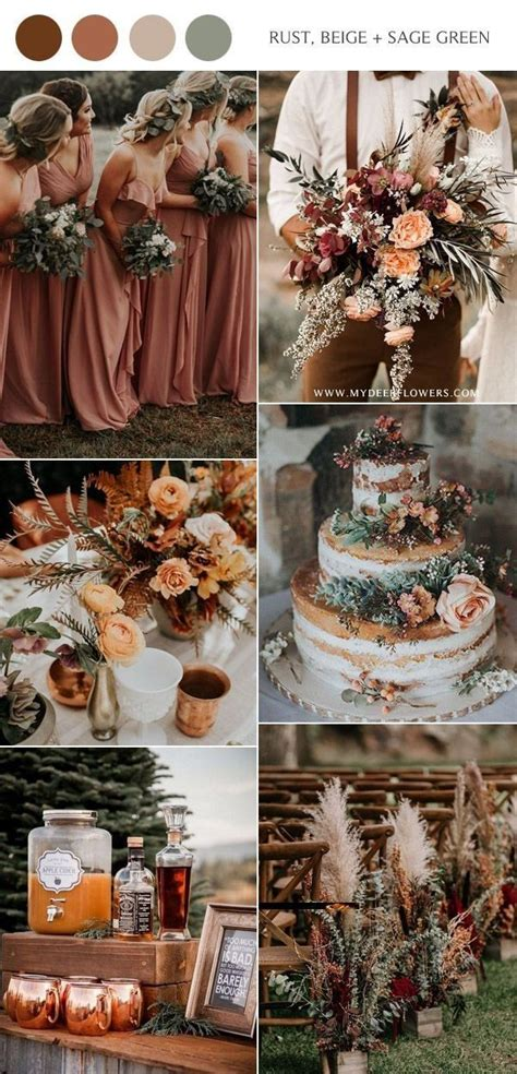 pin  hannah nelson  wedding ideas fall wedding color