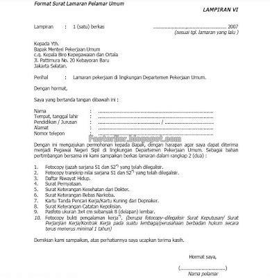 Contoh Surat Lamaran Pekerjaan Yang Ada Kop by Contoh Surat Lamaran Kerja Random Info