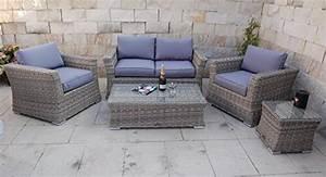 Garten Lounge Kissen : li il polyrattan garten lounge mit tisch und kissen ~ Markanthonyermac.com Haus und Dekorationen