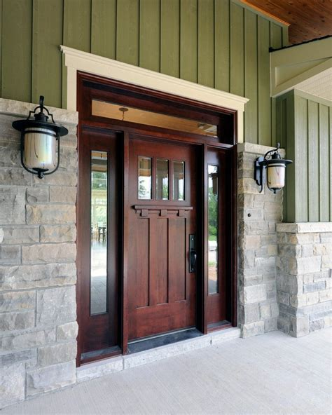 front entrance outdoor lighting front door lighting images entry craftsman with green
