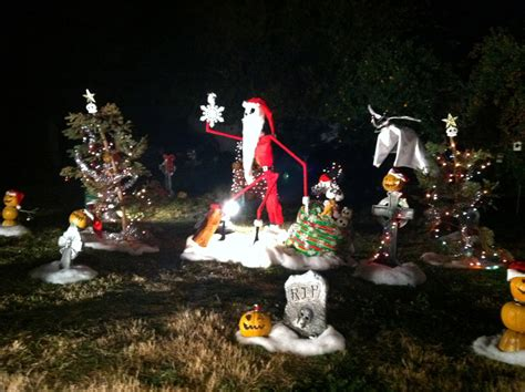 nightmare before yard decorations with december 2011