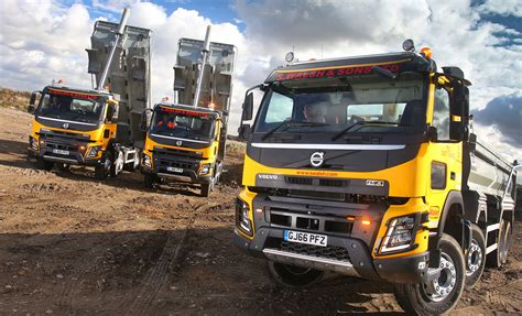 volvo truck dealers uk 40 fmx 8 215 4 tippers are first volvo trucks for walsh