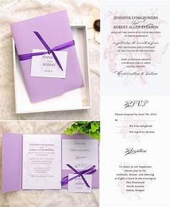 how to assemble your wedding invitations with pockets With how to assemble wedding invitations with ribbon