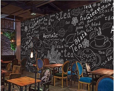 beibehang custom creative hand drawn imitation blackboard