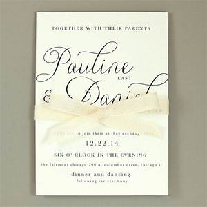 pauline suite modern elegant wedding invitation With example of simple wedding invitations