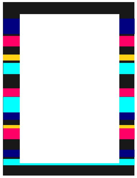 colorful border the go to stripe it up