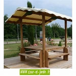 Table De Jardin Avec Banc : table pique nique bois table de jardin bois avec banc ~ Melissatoandfro.com Idées de Décoration
