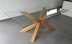 Glastisch Mit Holz : maintisch holz eiche esstisch masstisch glastisch gestell ~ Michelbontemps.com Haus und Dekorationen