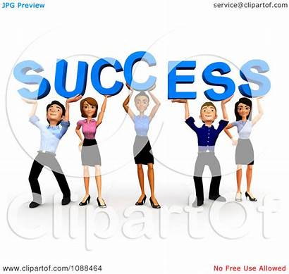 Team Business Clipart Success Clip 3d Diverse