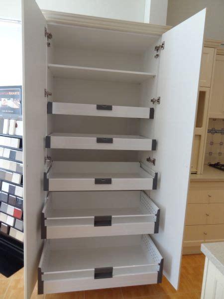 pantry cupboard  blum internal drawers soft close