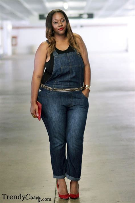 Trendy Curvy | Overalls | { Plus size outfit } | Pinterest | I love Fashion and Love