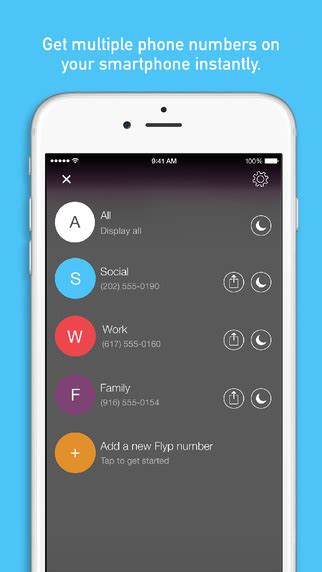 phone number app apps4review flyp numbers from the same phone