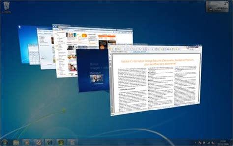 afficher le bureau windows 7 windows 7 gérer l affichage des fenêtres assistance orange