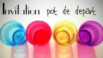 invitation pour un pot de d 233 part