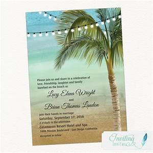 beach wedding invitation tropical wedding invitation palm With beach wedding invitations with photo