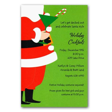 tipsy santa christmas invitations clearance paperstyle