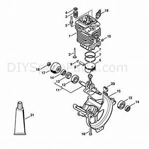 Stihl Fs 130 Brushcutter  Fs130r  Parts Diagram  Cylinder