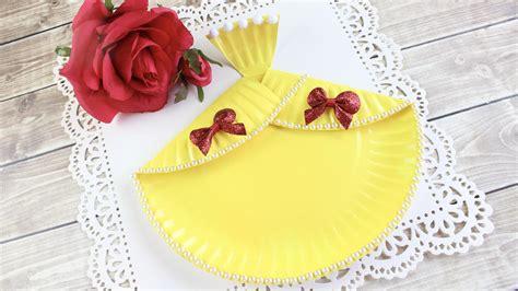 easy diy belle dress paper plate craft  dandy