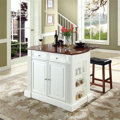 kitchen island and bar shop crosley furniture white craftsman kitchen island with