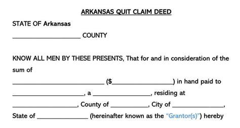quitclaim deed forms templates  state wordpdf