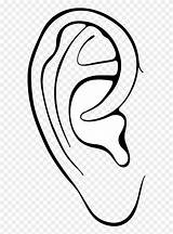 Clipart Ear Outline Ears Pinclipart Frames Illustrations Middle sketch template