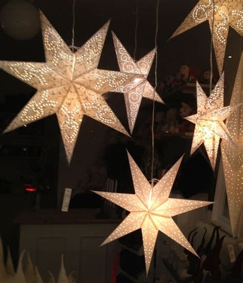 hanging star christmas lights diy learn to make christmas paper star lights for tree