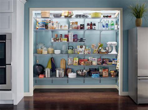 Splendid U Shaped Kitchen Pantry Shelving Design Featuring