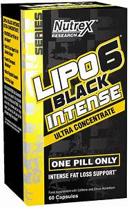 Nutrex Lipo-6 Black Intense Ultra Concentrate - 60 Caps