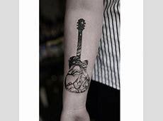 Tatouage De Guitare Acoustique Printablehd