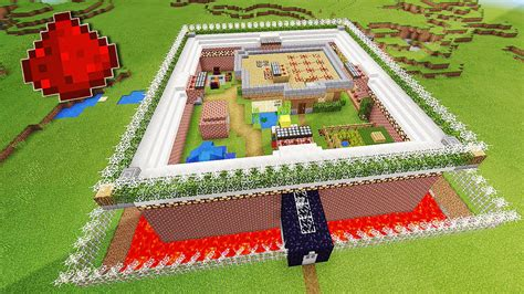 defended redstone house  mcpe minecraft redstone house youtube