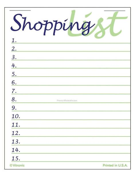 List Template Shopping List Templates Find Word Templates