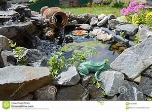 Kleiner Teich Im Garten : kleiner dekorativer teich im garten plan des plans stockbild bild von dekoration aroma 63328685 ~ Markanthonyermac.com Haus und Dekorationen