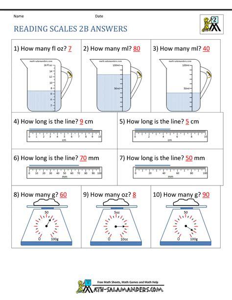 grade measurement worksheets