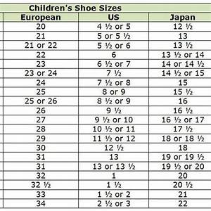 Converse Shoe Size Chart Inches Shop Abroad With These Clothing Size Conversion Charts