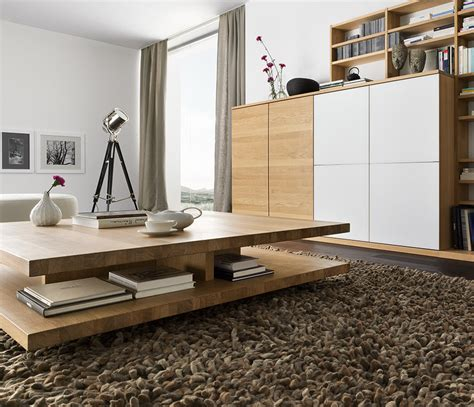 Luxury Modern Wood Coffee Table   TEAM 7 C3   Wharfside Furniture