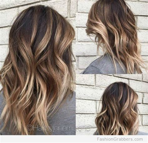 soft brunette balayage  blonde tips primp