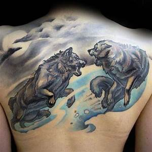 40 Wolf Back Tattoo Designs For Men - Fierce Ink Ideas