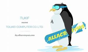 TUKIF abbreviation stands for TOUKEI PUTER CO LTD