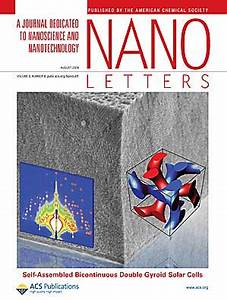 wiesner group energy materials With nano letters cover letter