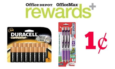 Office Max Rewards by Office Depot Rewards 1 162 Pens Batteries Southern Savers