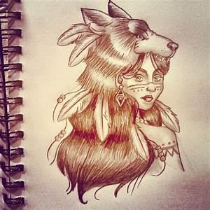 Native American Girl Tattoo Design by starbuxx on DeviantArt