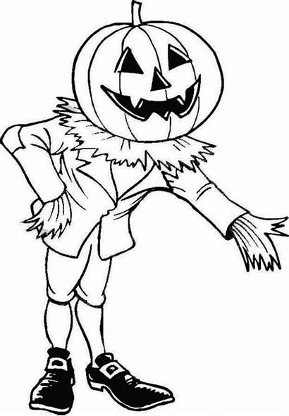 Halloween Coloring Pages Scary Pumpkin Invite Enter