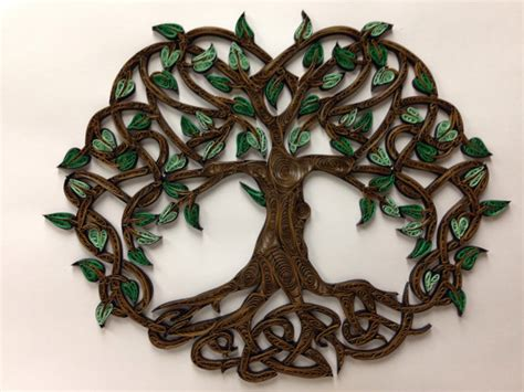 Celtic Tree Of Life Quilled Art