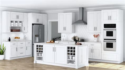 Permalink to Unfinished Shaker Kitchen Wall Cabinets